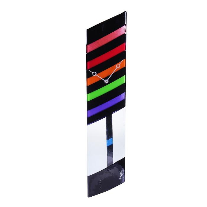 """Часы настенные с маятником """"Разноцветные полосы"""""""