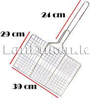 Решетка для гриля и барбекю с металлической ручкой 29х39 см, фото 1