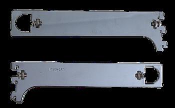 Торговое оборудование - Полкодержатель универсальный для трубы на Vertikal 300мм