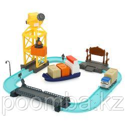 Набор игровой – Порт с разводным мостом, Poli Robocar