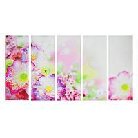 """Модульная картина на подрамнике """"Тайские цветы"""", 5 30×80 см"""