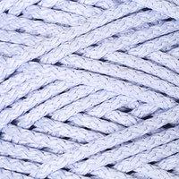 Шнур для вязания с сердечником 100 полиэфир, ширина 5 мм 100м/550гр (17 голубой)