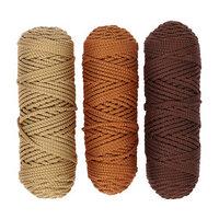 Шнур для вязания полиэфирный 3мм, 50м/100гр, набор 3шт (Комплект 13)
