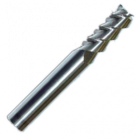 Концевые фрезы 3-х перые (спираль 55°) с плоским торцем