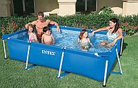 Прямоугольный бассейн каркасный Intex Rectangular Frame Pool 300х200х75см, фото 1