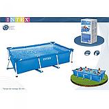 Прямоугольный бассейн каркасный Intex Rectangular Frame Pool 300х200х75см, фото 3