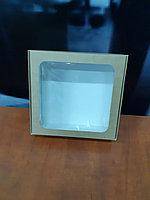 Коробка с квадратным окном 20*21*7см крафт