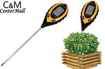 Ph метр для почвы AMT-300. Электронный измеритель pH, влажности, температуры и освещенности почвы, фото 3