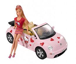 Кукла Штеффи в VW Juke, Hello Kitty