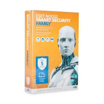 Антивирус Eset NOD32 Smart Security Family, фото 2