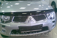 Мухобойка (дефлектор капота) на Mitsubishi Pajero Sport//Митсубиши Паджеро Спорт 2008-
