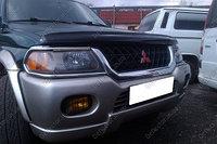 Мухобойка (дефлектор капота) на Mitsubishi Montero Sport//Митсубиши Монтеро Спорт 1997-2006, фото 1