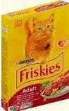 Friskies Фрискис сухой корм для кошек , мясо, печень и овощи 400гр