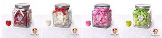 Стеклянная баночка с карамельными сердечками 130 гр. Sweet Ness
