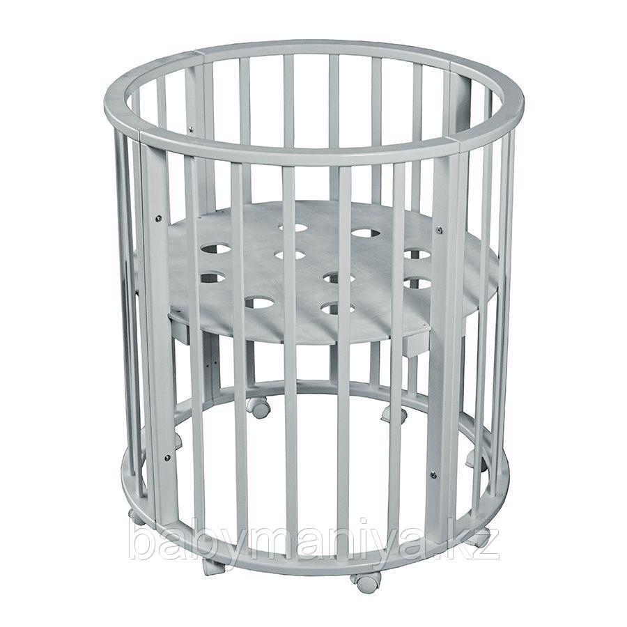 Круглая-Овальная Кроватка 3 в 1 Николь Мой малыш белый
