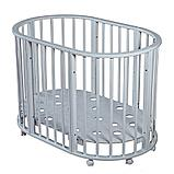 Круглая-Овальная Кроватка 3 в 1 Николь Мой малыш белый, фото 3