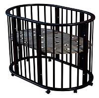 Круглая-Овальная Кроватка 3 в 1 Николь Мой малыш темный