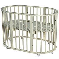 Круглая-Овальная Кроватка 3 в 1 Николь Мой малыш слоновая кость