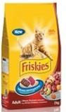 Friskies Фрискис сухой корм для кошек мясо, печень, овощи, 2 кг
