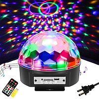Цветомузыка-Диско шар Magic Ball Light MP3 с флешкой и пультом