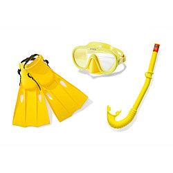 Набор для плавания Intex 55655 в упаковке: маска, трубка, ласты