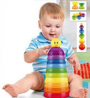 Стаканчики развивающие для малышей «ЦВЕТА РАДУГИ»