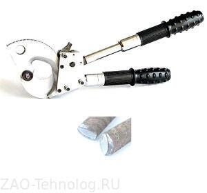 Кабелерез для оптоволоконного кабеля с броней