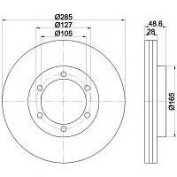 Тормозные диски Toyota  Hiace (05-...,Trw, передние)