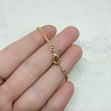 Цепочка серебряная на шею, покрытая золотом, фото 2