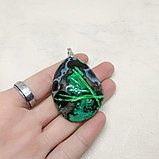 Кулон из агата, тонированного, фото 4