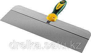 Шпатель KRAFTOOL фасадный с двухкомпонентной ручкой, нержавеющее полотно, 400мм , фото 2