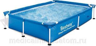 56401 BW Каркасный прямоугольный бассейн 221х150х43 см, 1200 л
