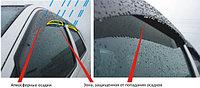 Ветровики/Дефлекторы боковых окон c хромированным молдингом на Toyota Camry 50/Тойота камри 50 2011 -