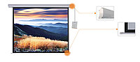 "Экран для проектора моторизированный Mr.Pixel 96"" X 96"" (2,44 X 2,44)"