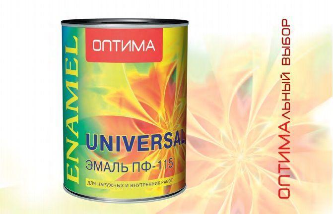 Эмаль ПФ-115 черная 0,9 КГ ОПТИМА