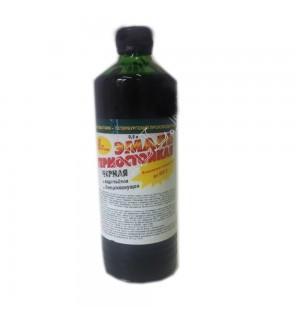 Эмаль термостойкая черная 0,5 кг
