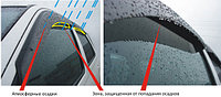 Ветровики/Дефлекторы боковых окон с хромированным молдингом на Toyota HIghlander/Тойота Хайлендер  2014-, фото 1