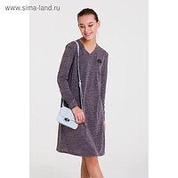 Платье женское арт.6641 цвет серый, р-р 44
