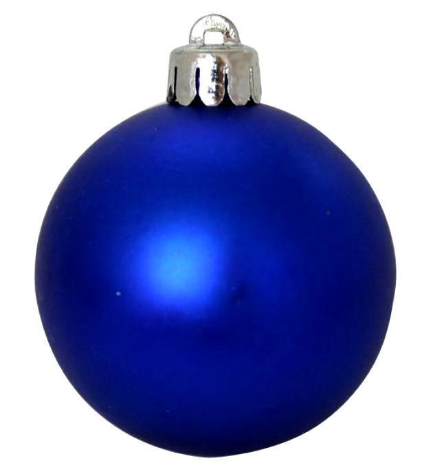 Шары елочные синие