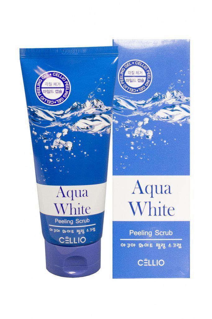Пилинг-скраб для лица Cellio Agua White Peeling Scrub 180 ml.