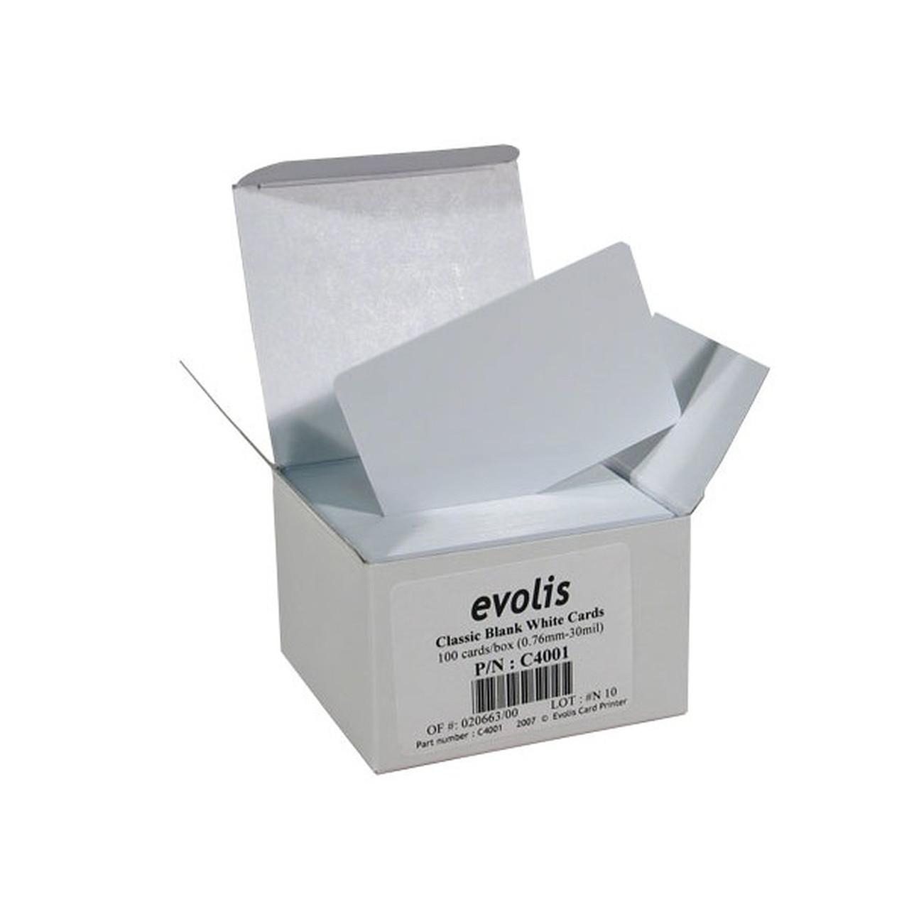 чистые белые PVC карты  0,76мм