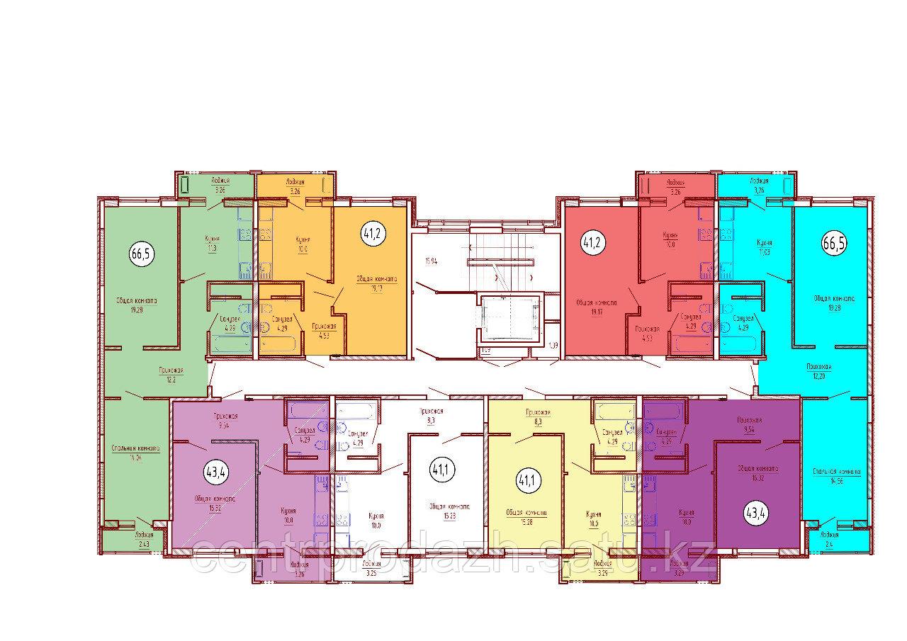 1 комнатная квартира в ЖК Техникум 2 43.4 м²