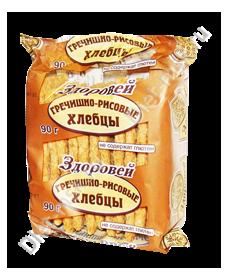 """Хлебцы хрустящие гречишно-рисовые 90гр"""" Здоровей"""""""