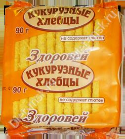 """Хлебцы хрустящие кукурузные 90гр """"Здоровей"""""""