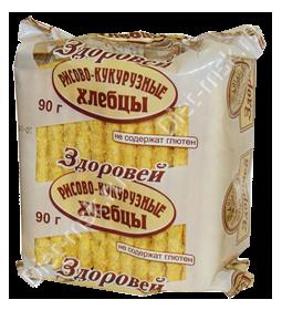 """Хлебцы хрустящие рисово-кукурузные 90гр """"Здоровей"""""""