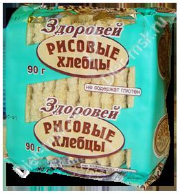 """Хлебцы хрустящие рисовые 90гр """"Здоровей"""""""