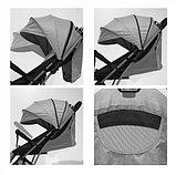 Коляска прогулочная Lorelli Fiona с накидкой на ножки Бежевый / Dark Beige1976, фото 3