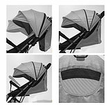 Коляска прогулочная Lorelli Fiona с накидкой на ножки Серый / Dark Grey 1977, фото 3