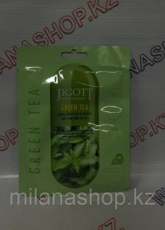 Jigott Green Tea Real Ampoule Mask - Ампульная маска с зеленым чаем