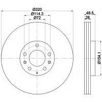 Тормозные диски Mazda CX-7 (07-..., передние , D320, Meyle)